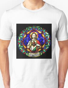Jesus Scared Heart Stained Glass T-Shirt