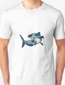 Catfish Mud Cat Looking Up Low Polygon Unisex T-Shirt