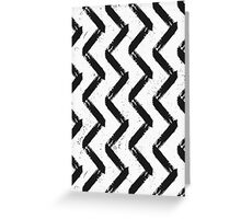 Black & White Chevron Greeting Card