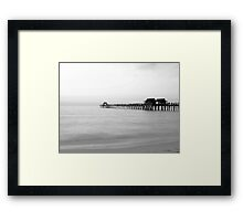 The Pier in 30 seconds Framed Print