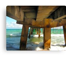 Commercial Pier  Canvas Print