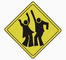 DANCERS CROSSING WARNING ROAD SIGN Kids Clothes