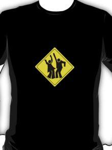 DANCERS CROSSING WARNING ROAD SIGN T-Shirt