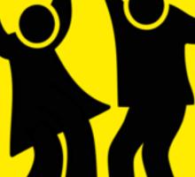 DANCERS CROSSING WARNING ROAD SIGN Sticker