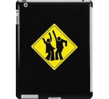 DANCERS CROSSING WARNING ROAD SIGN iPad Case/Skin