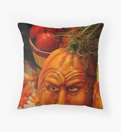 Ole Man Pumpkin Throw Pillow