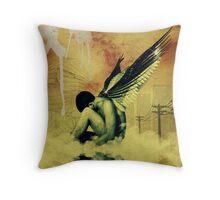 Modern Day Archangel Throw Pillow