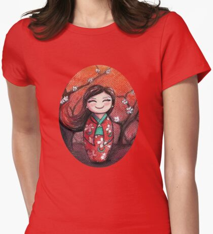 Kokeshi Selene Womens Fitted T-Shirt