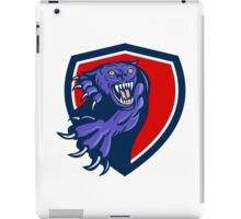 Black Panther Attacking Claws Crest Retro iPad Case/Skin