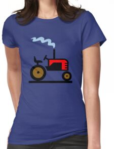 TRACTOR FARM WORK TRUCK  Womens Fitted T-Shirt
