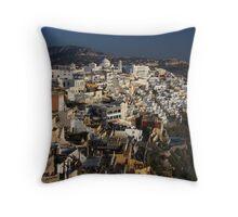 Fira Town, Santorini Throw Pillow