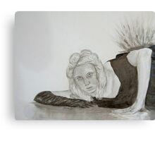 Monochrome girl Canvas Print