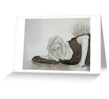 Monochrome girl Greeting Card