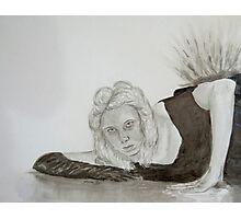 Monochrome girl Photographic Print