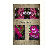 Gladiola Collage Art Print