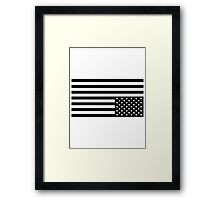 Black On White Framed Print