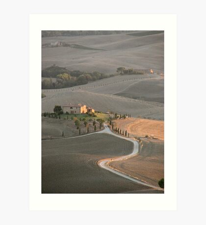 Tuscan Farmland in late summer Art Print