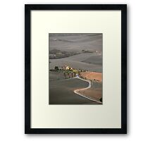 Tuscan Farmland in late summer Framed Print