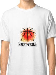 Vector Grunge Basketball Classic T-Shirt
