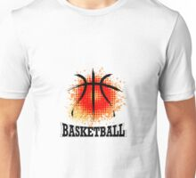 Vector Grunge Basketball Unisex T-Shirt