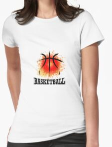Vector Grunge Basketball Womens Fitted T-Shirt