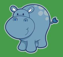 Sweet blue hippo Baby Tee