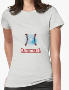 Vector grunge baseball  Womens Fitted T-Shirt