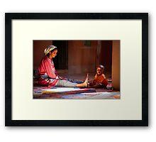 Moroccan communication Framed Print