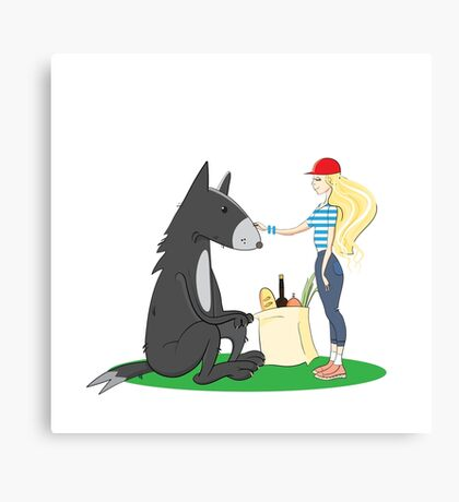 Little Red Riding Hood. Canvas Print