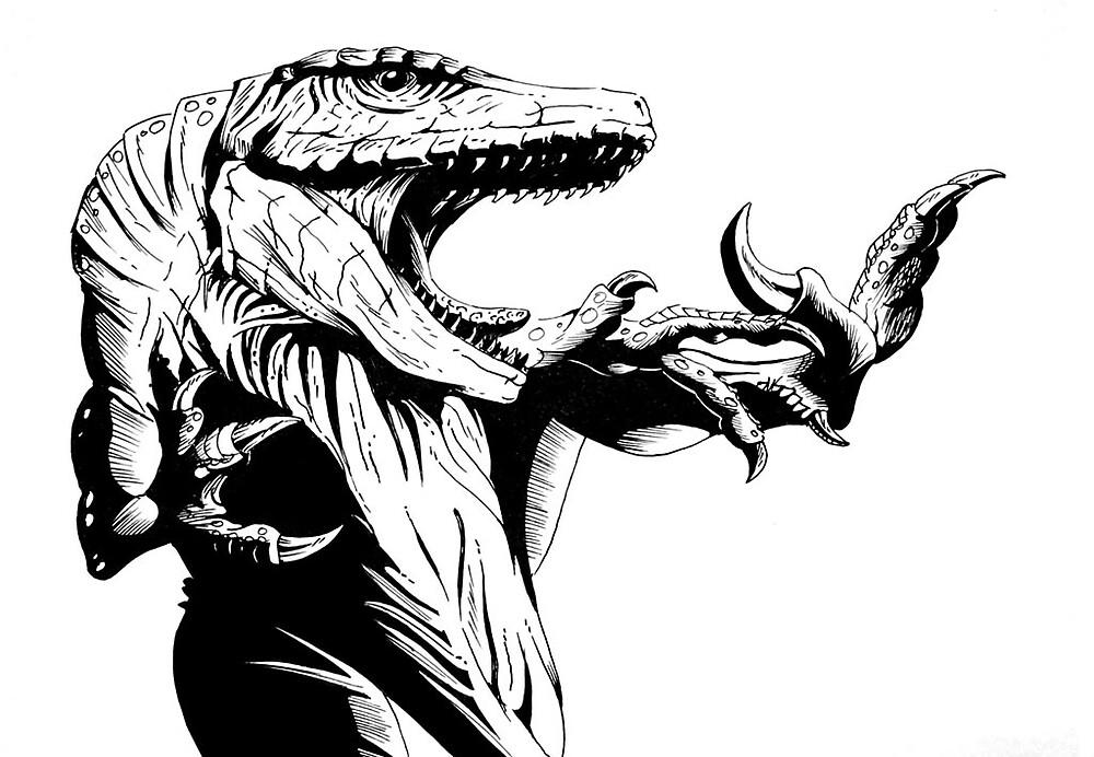 If a raptor knew martial arts... by Dana Sibera