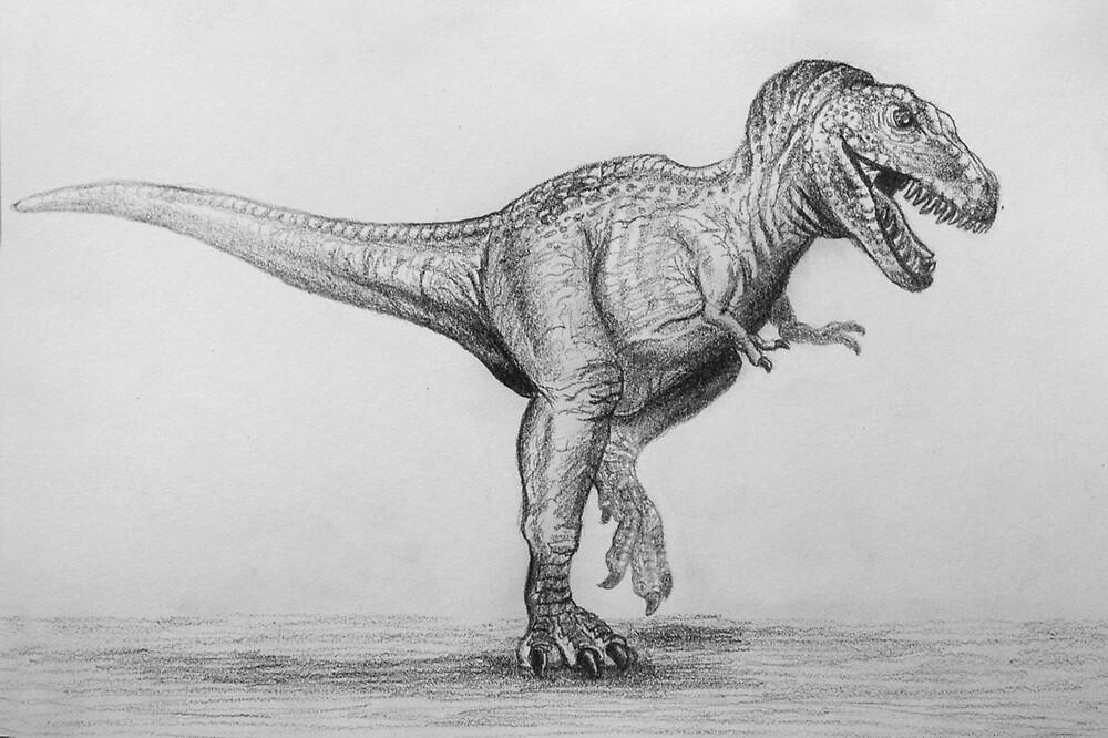 Tarbosaurus bataar by Dana Sibera