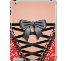 Female Back Black Vintage Damask Lace Corset Lingerie  iPad Case/Skin
