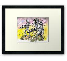 Men of steel Framed Print
