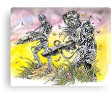 Men of steel Canvas Print