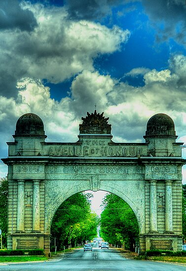 Lest We Forget - Arch Of Victory, Ballarat, Victoria - The HDR Experience by Philip Johnson