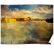 View from Charles Bridge, Prague Poster
