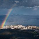 Rainbow over Hobart by Chris Putnam