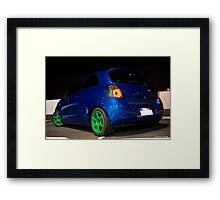 Toyota Yaris Framed Print