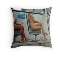 No Nudes Is Good Nudes (No, They're NOT Real ...!!!) Throw Pillow