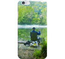 Hoping for a catch! iPhone Case/Skin