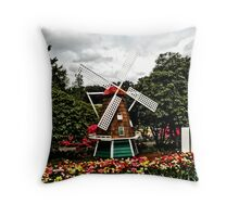 Windmill...HDR Throw Pillow