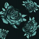 desaturated blue rose by Anthropolog