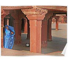 Woman at Fatehpur Sikri Poster