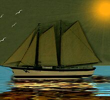 ~ Atlantic Schooner ~ by Madeline M  Allen