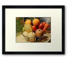 Fruits and Vegetables Framed Print