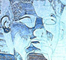 Ramses in horus blue light  Sticker