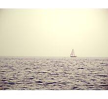 Adrift! A little boat adrift! Photographic Print