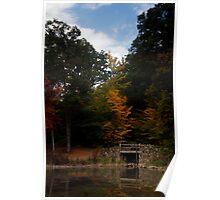 Woodsy Bridge Color Poster