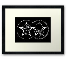 The Sisters Of Mercy - The Worlds End - Mashup Logo Framed Print