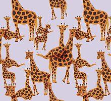 Giraffe Pattern by Amy Hall